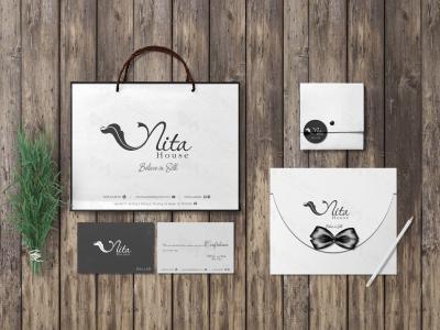 Bộ nhận diện thương hiệu thời trang lụa Nita House