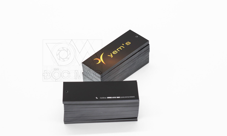 Tag giấy mác thời trang thiết kế Yems