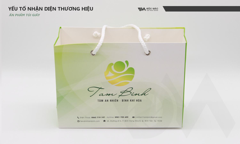 Túi giấy Trung tâm chăm sóc sức khỏe Tâm Bình