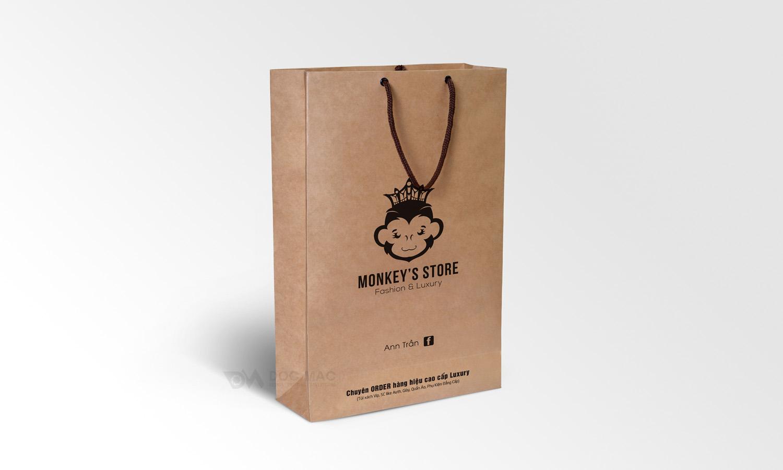 Túi giấy nhận diện thương hiệu Monkey Store