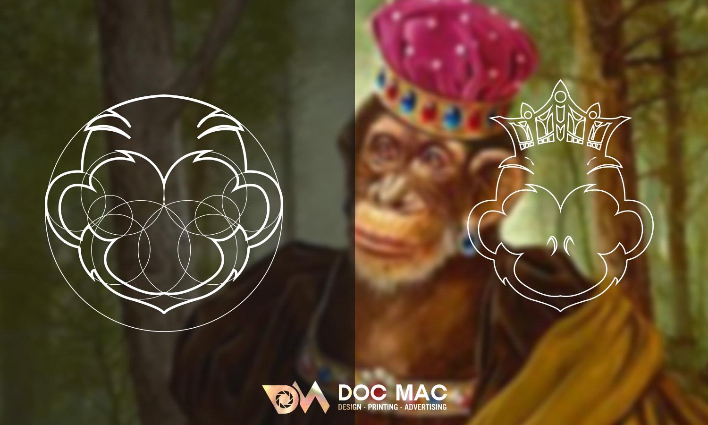 Logo nhận diện thương hiệu Monkey Store