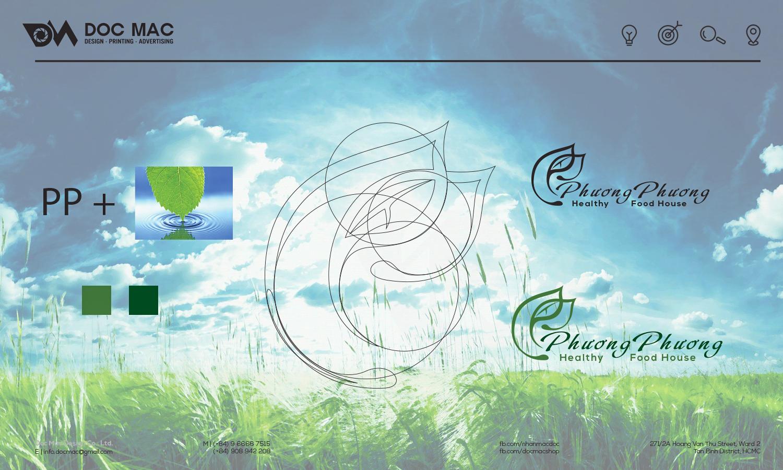 Logo nhận diện thương hiệu thực phẩm PP