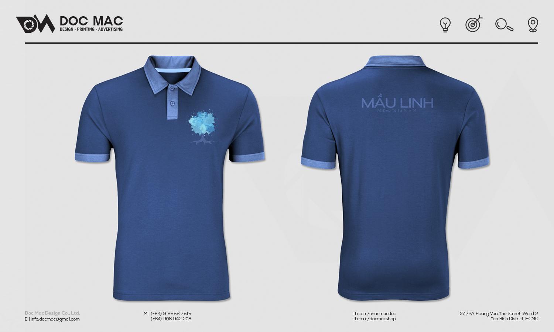 Áo thun thiết kế nhận diện thương hiệu Sơn nước Mầu Linh