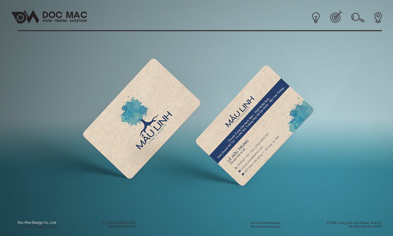 Danh thiếp thiết kế nhận diện thương hiệu Sơn nước Mầu Linh