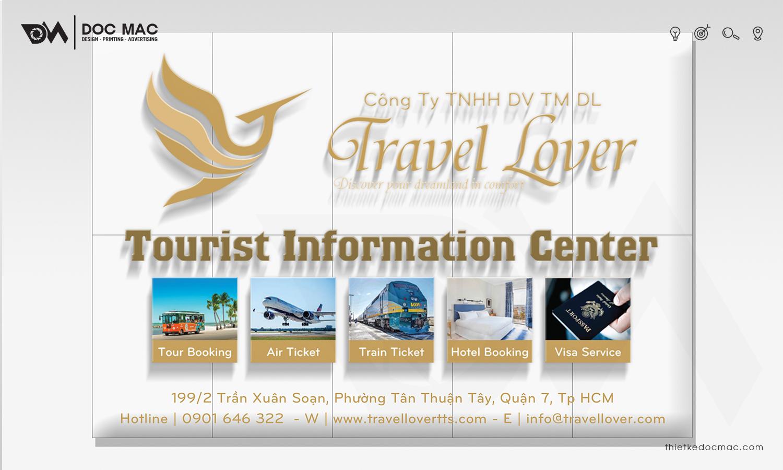 Thiết kế bộ nhận diện thương hiệu Du lịch Travel Lover