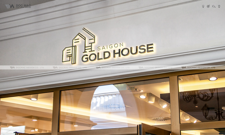 Thiết kế thương hiệu bất động sản Gold House Sài Gòn