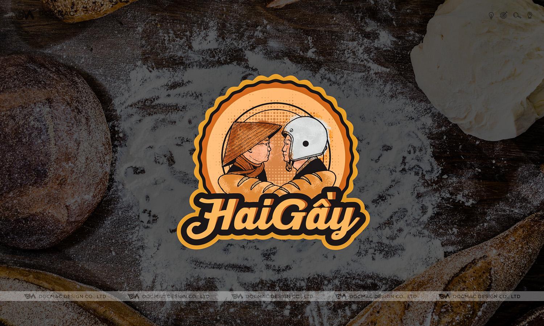Thiết kế thương hiệu bánh mì Hai Gầy