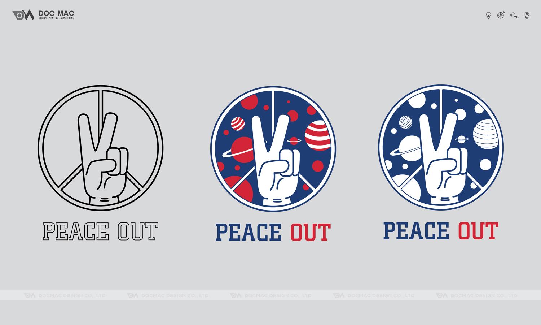 Thiết kế thương hiệu thời trang nam PEACE OUT